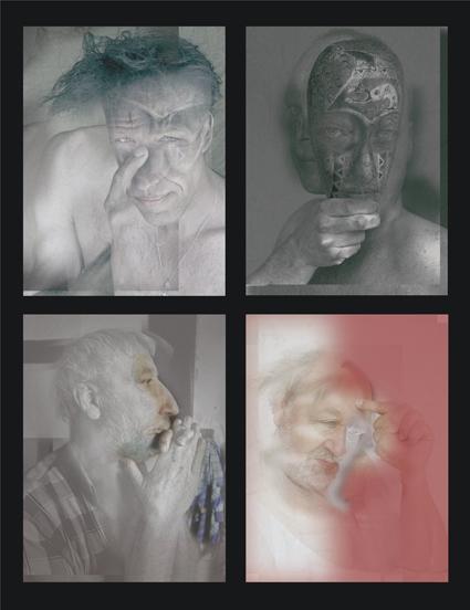 De vier leden van Darkroom, gefotografeerd door Kees de Graaff